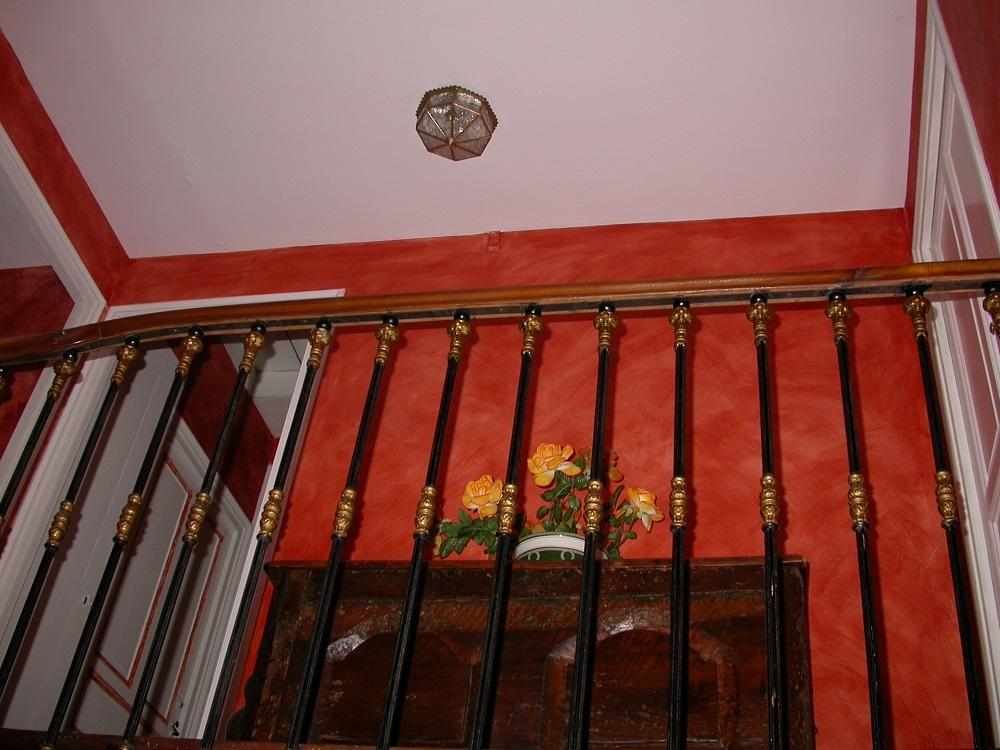D coration de cage d 39 escalier enduit cir jean yves bador - Decoration de cage d escalier ...