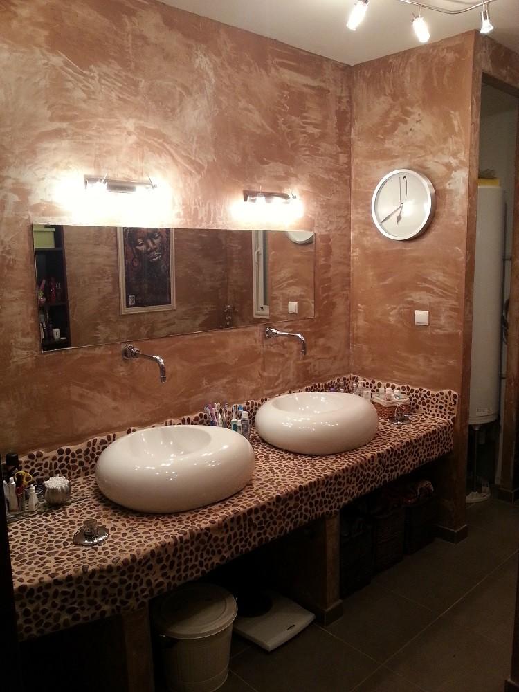 Réalisation salle de bain en tadelackt
