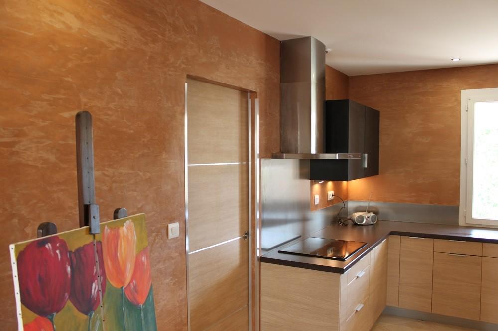 Décoration cuisine, salon, «Tadelakt, Béton d'Archi-«